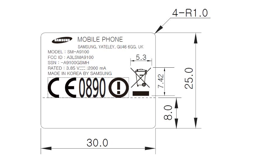 Galaxy A9 Pro đạt chứng nhận tại FCC