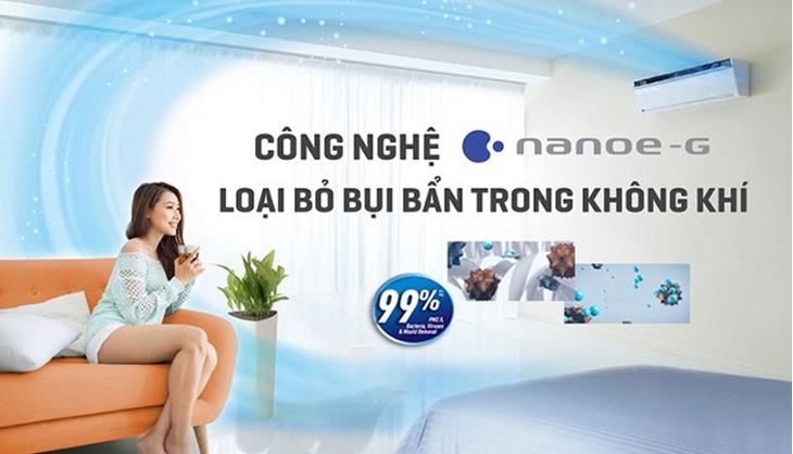 Bộ lọc Nanoe-G - Lọc sạch không khí và mùi hôi trên máy lạnh Panasonic