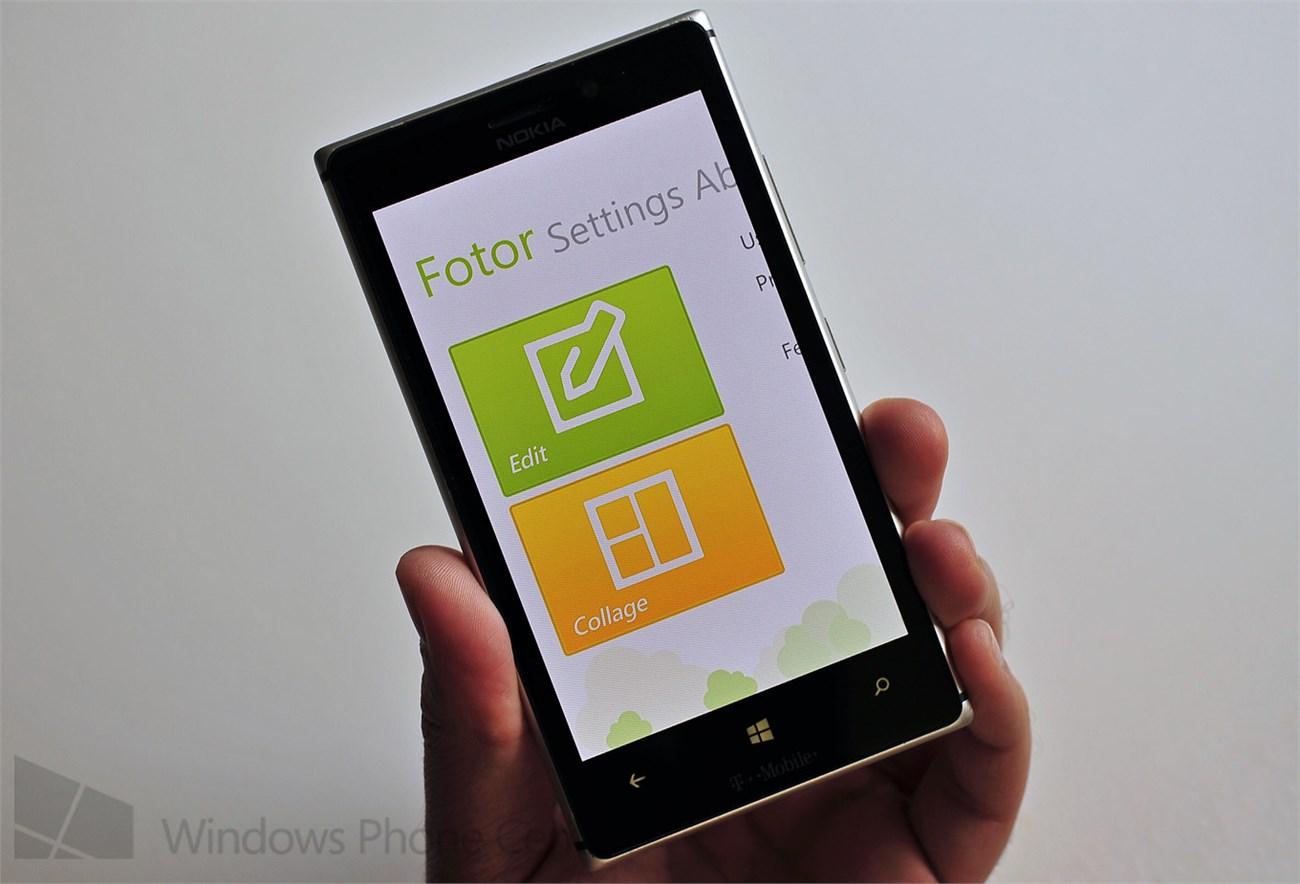 Giao diện ứng dụng Fotor (Ảnh: Windowscentral)
