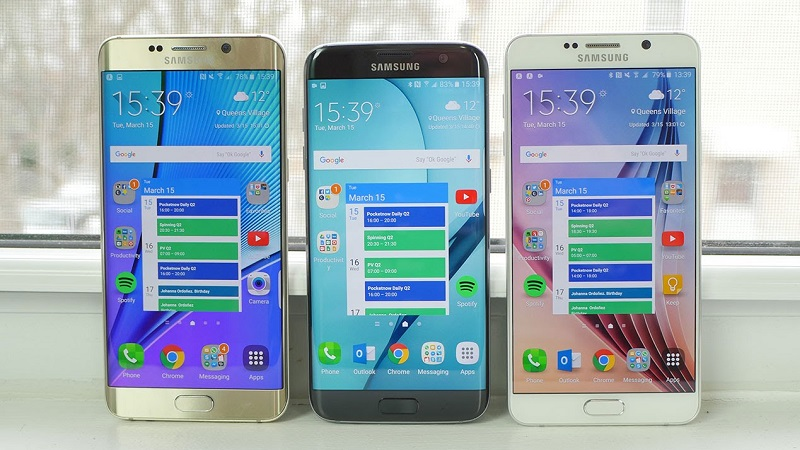 Samsung Galaxy S7 Edge, Galaxy Note 5 và Galaxy S6 Edge Plus