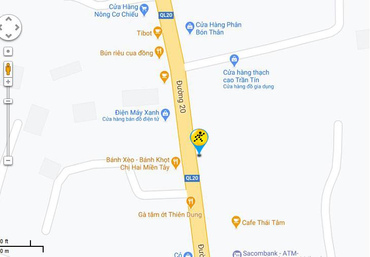 Bản đồ đến siêu thị Điện máy XANH tại Số 1/4, Quốc lộ 20, Ấp Gia Yên, Xã Gia Tân 3, Huyện Thống Nhất, Tỉnh Đồng Nai