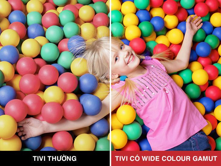 Công nghệ Wide Colour Gamut mang đến trải nghiệm hình ảnh đẹp mắt, mới lạ