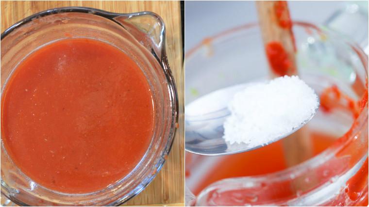 Làm nước ép cà chua cực nhanh bằng máy xay sinh tố 3
