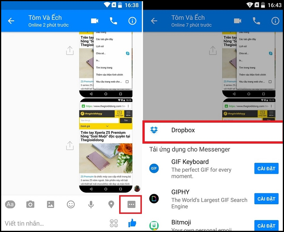 how to search for files in messenger