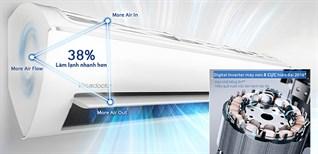 Máy nén Digital Inverter 8 cực trên điều hòa Samsung có lợi ích gì?