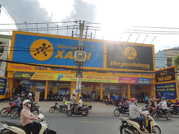 Siêu thị điện máy xanh tại A1/9 QL 50, Ấp 2, X. Bình Hưng, H. Bình Chánh, TP.Hồ Chí Minh.