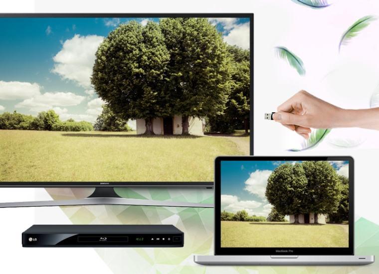 Chia sẻ nội dung tiện lợi với laptop, đầu DVD,… nhờ các cổng kết nối đa dạng