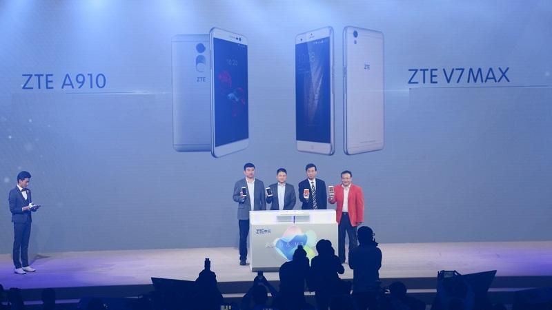 ZTE V7 Max với camera 16 MP, cảm biến vân tay như Xperia Z5 ra mắt