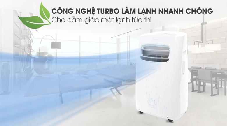 Máy lạnh di động với công nghệ Turbo làm lạnh nhanh chóng