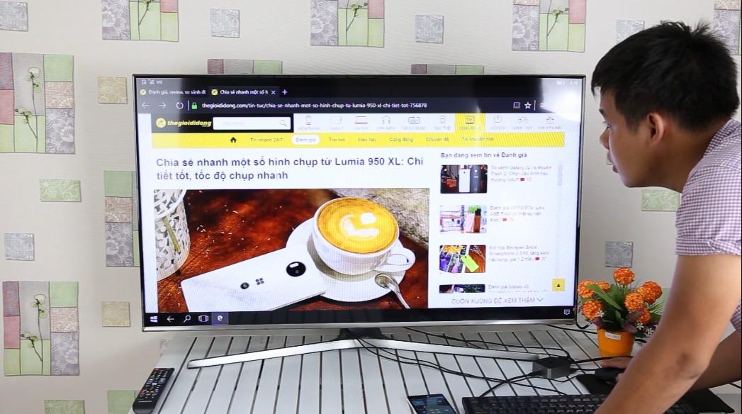 chia sẻ màn hình lên PC