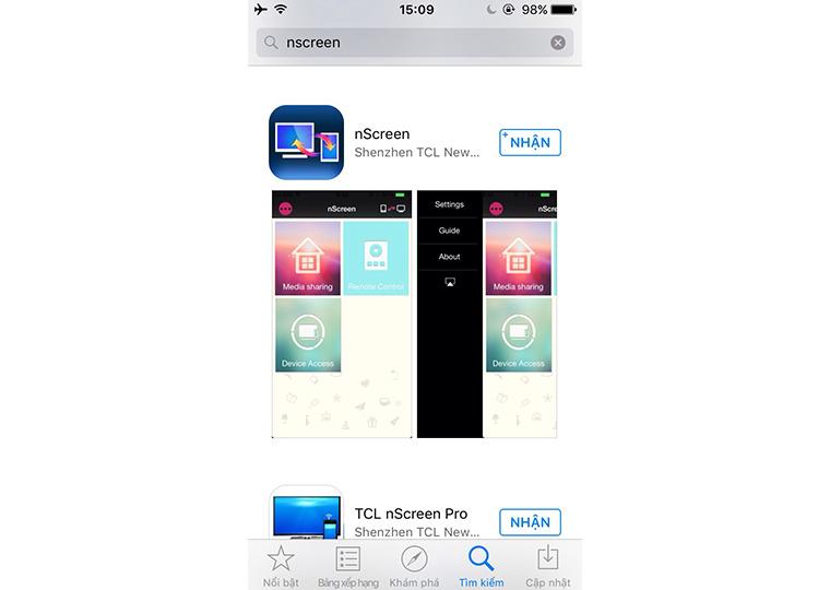 Tải ứng dụng nScreen