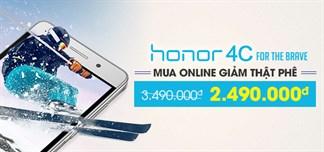 450 suất bán HONOR 4C giá chỉ 2.490.000đ. Duy nhất tại THẾ GIỚI DI ĐỘNG từ 28/4 - 30/4