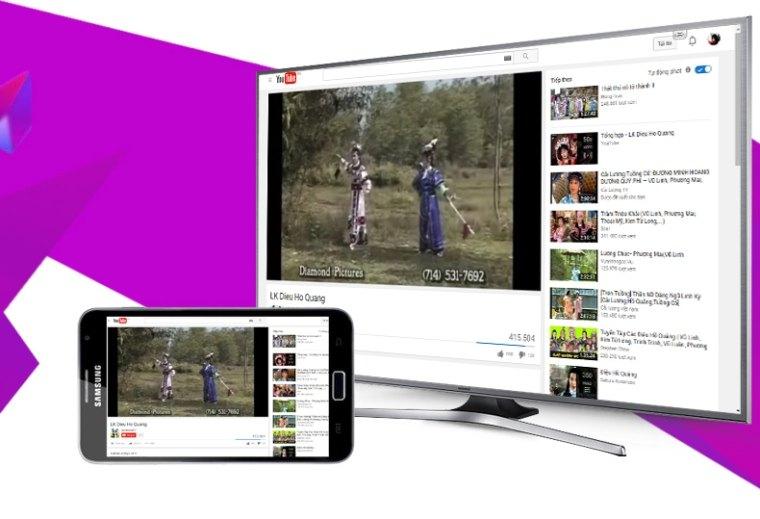 Chiếu hình ảnh từ điện thoại lên tivi với vài bước đơn giản
