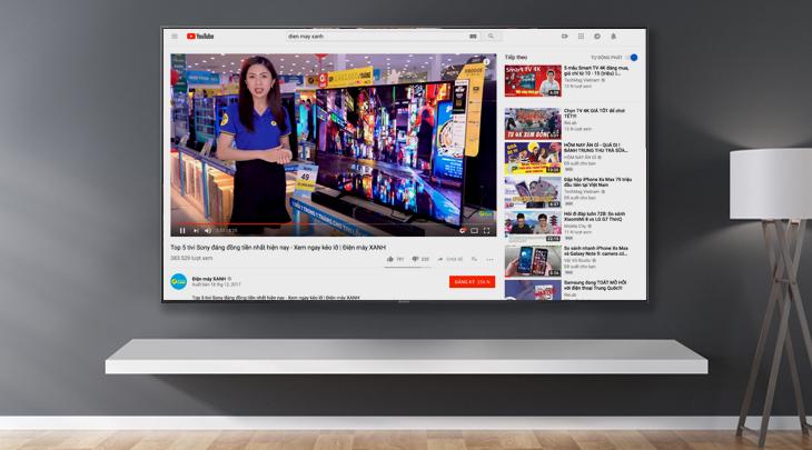 Xem YouTube bằng trình duyệt web trên tivi