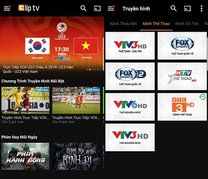 Top 9 ứng dụng xem bóng đá trực tuyến trên tivi