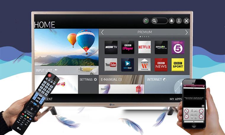 LG 32LF581D có hỗ trợ điều khiển tivi bằng điện thoại