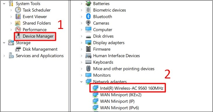 Chọn Device Manager