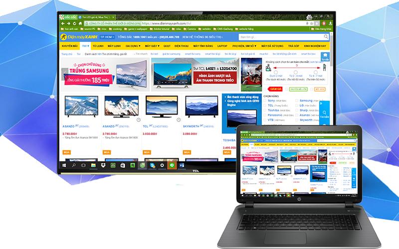 Chiếu màn hình laptop lên tivi