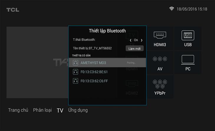 Tivi đang kết nối với loa
