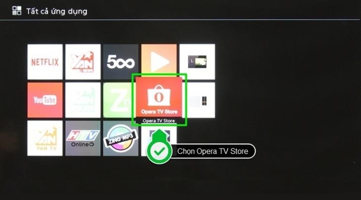 Chọn Opera TV Store