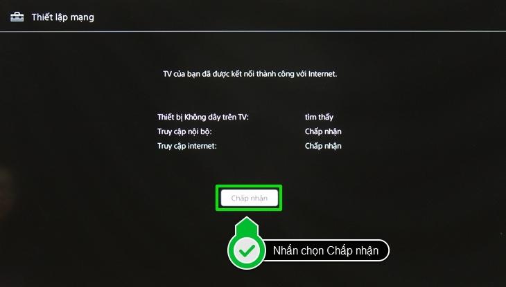 Nhấn chọn Chấp nhận