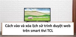 Cách vào và xóa lịch sử trình duyệt web trên smart tivi TCL cực nhanh, đơn giản