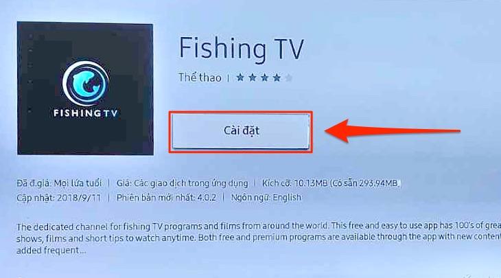 Cài đặt ứng dụng trên tivi Samsung