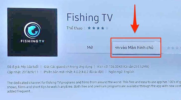Thêm ứng dụng vào màn hình chính của tivi Samsung