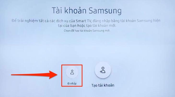 Mục APPS trên Smart tivi Samsung