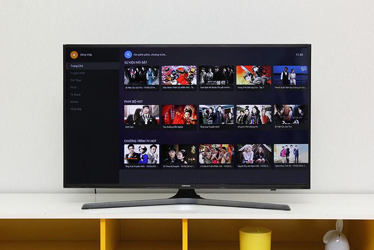 Mở ứng dụng trên tivi