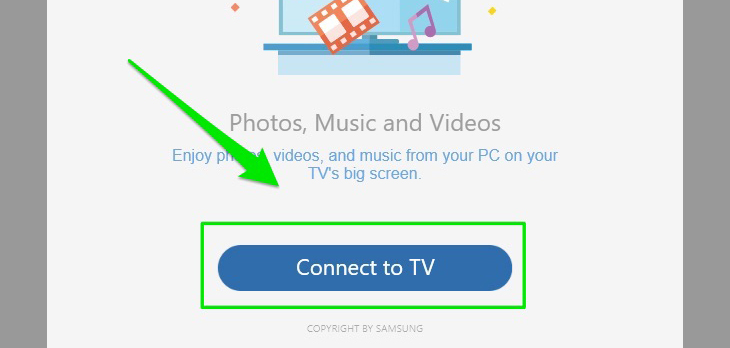 Chọn Connect to TV