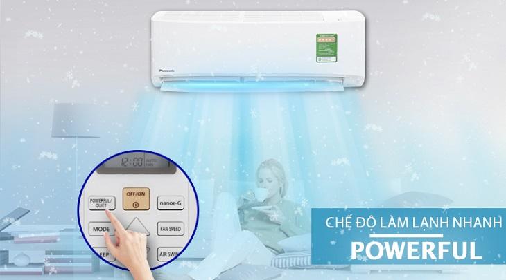 Chế độ Powerful – Máy lạnh Panasonic