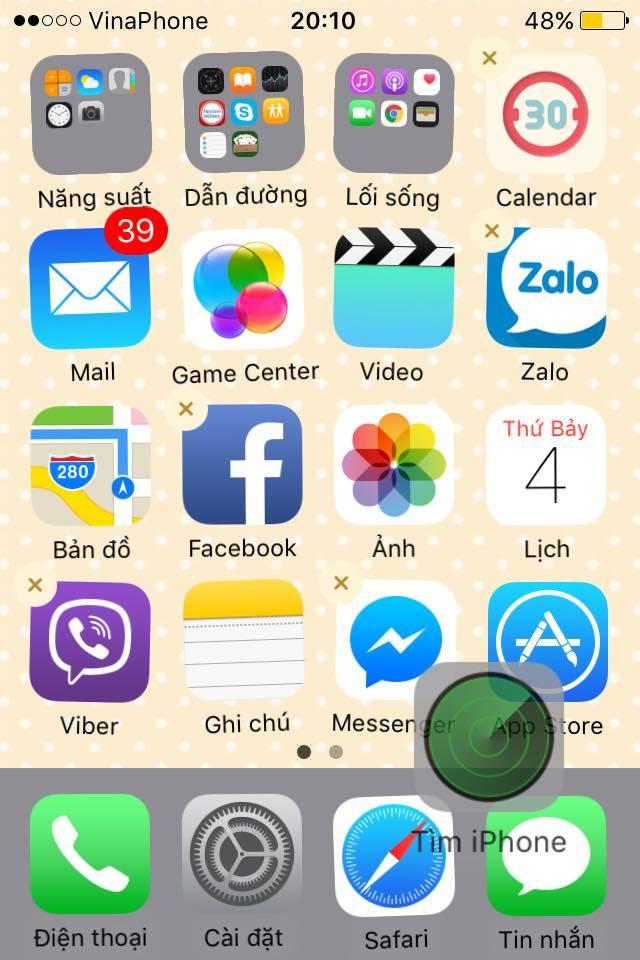 ẩn ứng dụng iphone