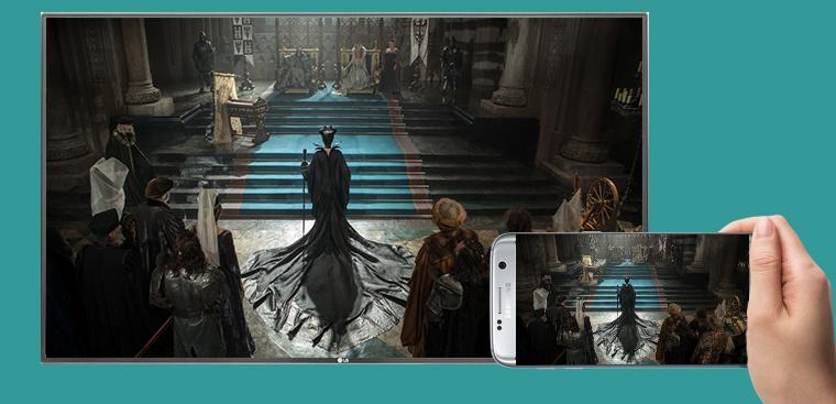 Cách chiếu màn hình điện thoại lên Smart tivi LG 2015