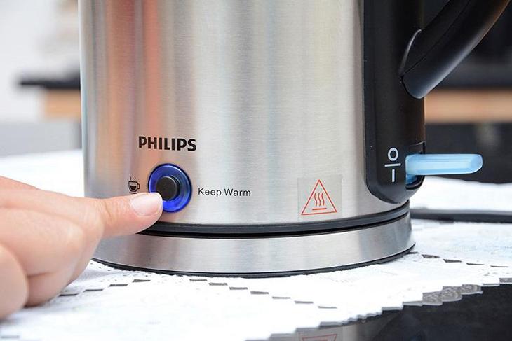 Bình siêu tốc Philips HD9316 1.7 lít có chức năng giữ ấm