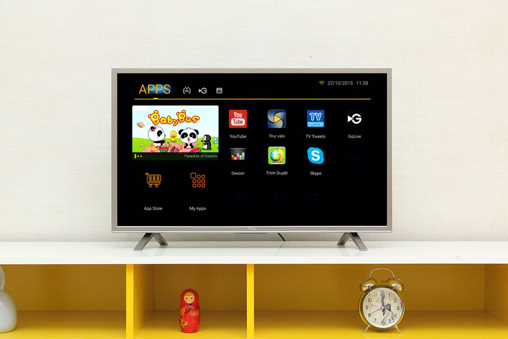 Smart tivi giao diện Android đơn giản, dễ sử dụng