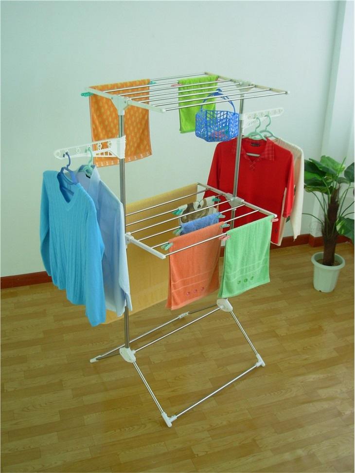 Hãy có một chỗ dự phòng trong nhà để phơi áo quần nếu đột xuất trời mưa