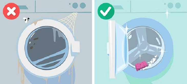 Đồng thời mỗi năm cho làm sạch bằng một chu kỳ nước ấm và dấm ăn