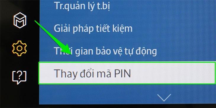 Chọn Thay đổi mã PIN