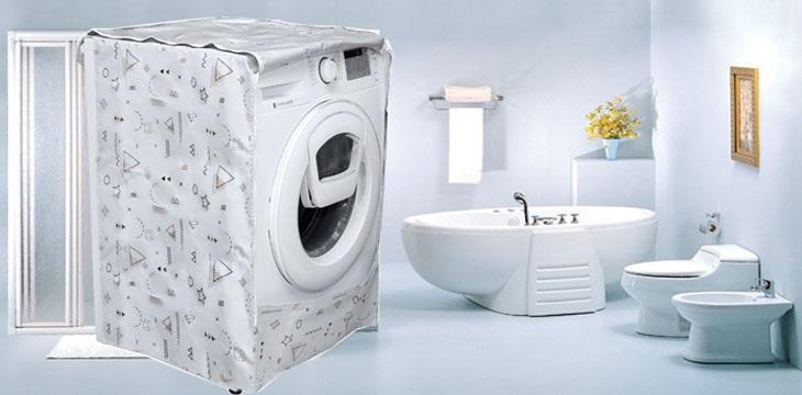 Nên sử dụng áo trùm cho máy giặt khi chưa hoạt động