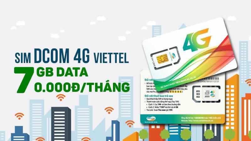 Từ 20/04/2017 khi Khách Hàng mua sim Dcom 4G Viettel tại hệ thống  thegioididong.com trên toàn quốc sẽ nhận được ưu đãi cực kỳ hấp dẫn: