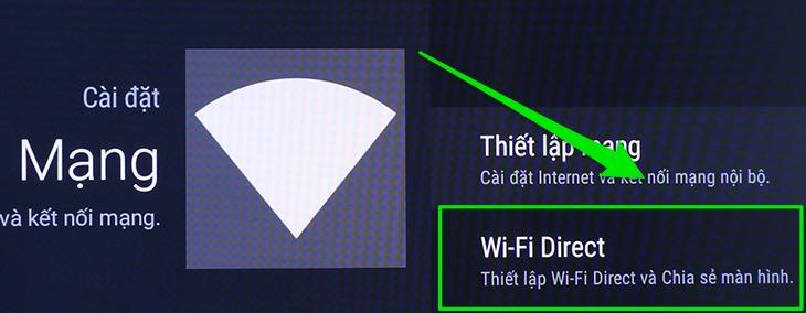 Wi-Fi Direct thường nằm ở mục Cài đặt mạng
