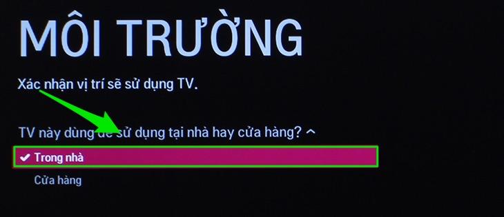 Nhớ chọn vị trí đặt tivi là ở nhà