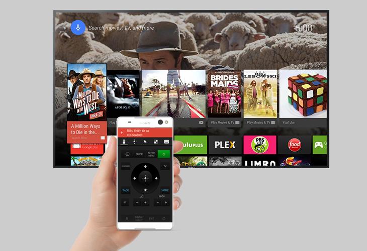 Điều khiển tivi bằng ứng dụng Sony Video & TV SideView