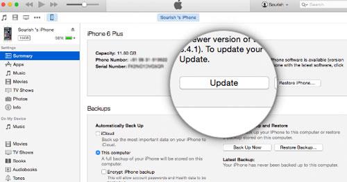 Hướng dẫn cập nhật lên iOS 9 3 3 bằng OTA và thủ công