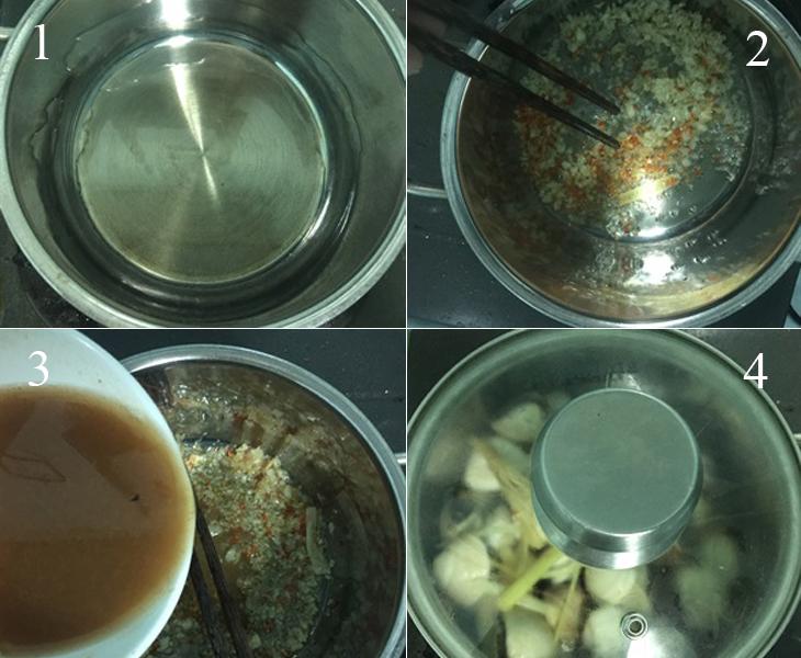 Nấu nghêu hấp Thái