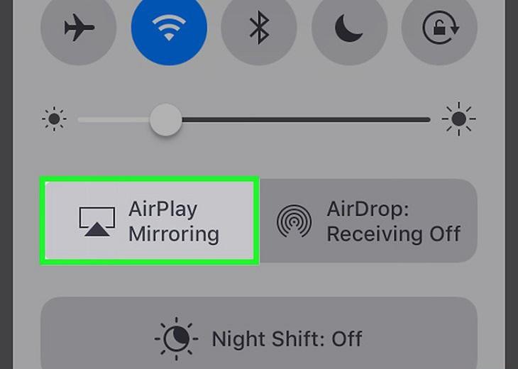 chọn Phản chiếu màn hình/Airplay