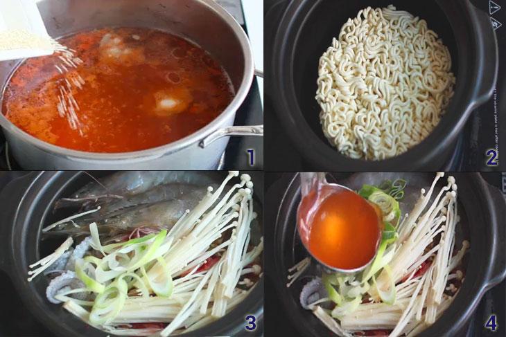 Bước 3 Nấu mỳ Mỳ cay 3 cấp độ