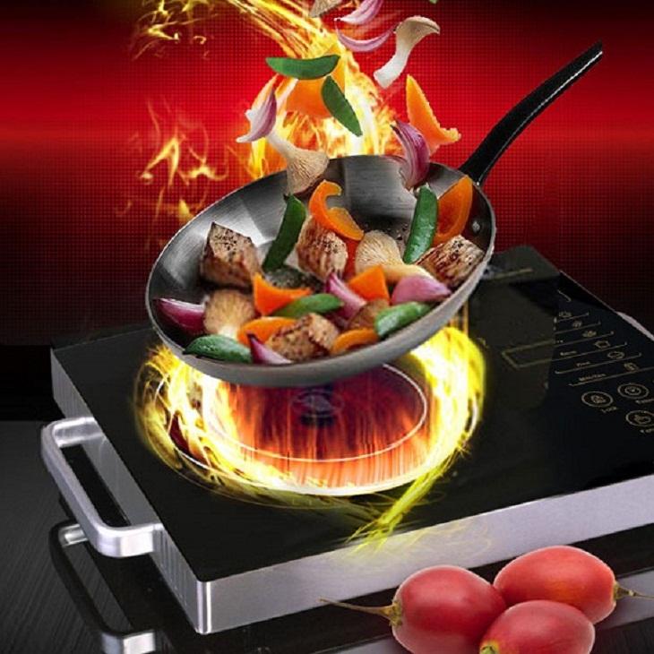 Lỗi E5 do bề mặt bếp hồng ngoại quá nóng