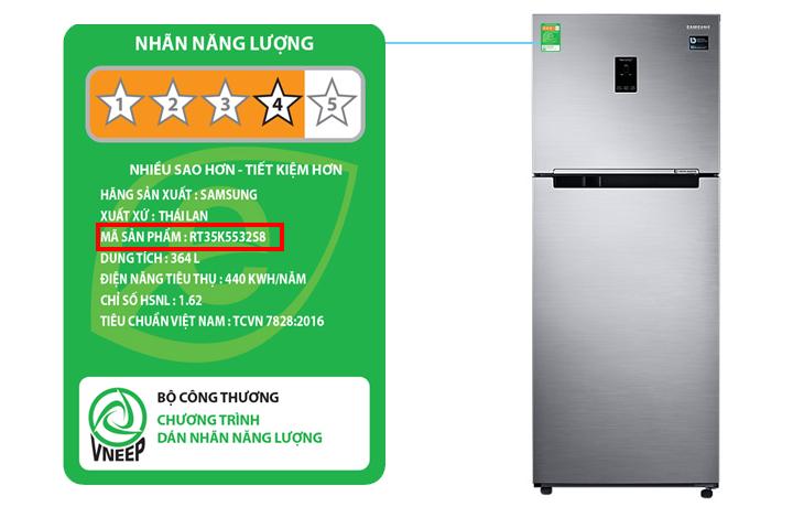 Cách xem tên sản phẩm trên tủ lạnh Samsung